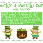 Lucky St. Patrick's Day Common Core Math Games