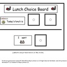 Lunch Choice Board for Kids with Autism