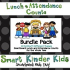 Lunch Count and Attendance for Smartboard - BUNDLE for  EN
