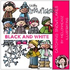 Lyndsey's catching snowflakes bundle by melonheadz black a