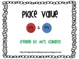 M & M Place Value Math with Place Value Cards