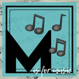 M is for Music Themed Lesson Plans (one week)