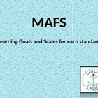 MAFS 4th Grade Math Florida Standards Scales and Learning Goal