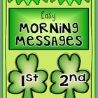 MARCH - Easy Morning Messages - 1st and 2nd Grade BUNDLE