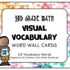 MATH 3RD Grade CCSS Aligned Visual Vocabulary Word Wall Cards