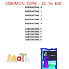 MATH GRADE 1 COMMON CORE - E1 TO E10 - SUBRACTING 0 1 2 3