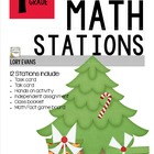 MATH STATIONS - Common Core - Grade 1 - DECEMBER