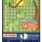 MATH STATIONS - Common Core - Grade 1 - DINOSAURS