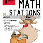 MATH STATIONS - Common Core -Grade 1 - NOVEMBER