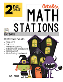 MATH STATIONS - Common Core - Grade 2 - OCTOBER