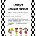 MATH Today's Decimal Number 5th Grade CCSS Focus Skills