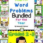 MATH WORD PROBLEMS BUNDLED for the year!  Gr. 2 - 3