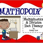 MATHOPOLY - Multiplication & Division Fact Fluency Games