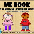 ME BOOK Get to Know Me-Writing Craftivity Common Core Alig