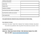 MLA Citation Cheat Sheet