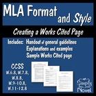 MLA Format and Style Handouts and Sample Works Cited Page