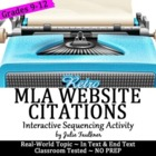MLA Internal & External Website Citations: A Worksheet Alt