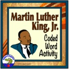 MLK Coded Words Activity Sheet - Webdings