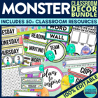 MONSTERS Theme EDITABLE Classroom Essentials-34 Printable