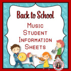 MUSIC: First Day Student information sheet.