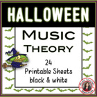 MUSIC Halloween Worksheets B/W