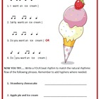 MUSIC Rhythm Invention Worksheet