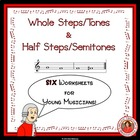 MUSIC: Whole Steps/Tones and Half Steps/Semitones Worksheets
