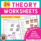MUSIC Valentine's Day Worksheets