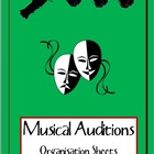 MUSICAL: Audition sheets