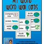 MY WORLD Word Wall Pocket Chart Cards