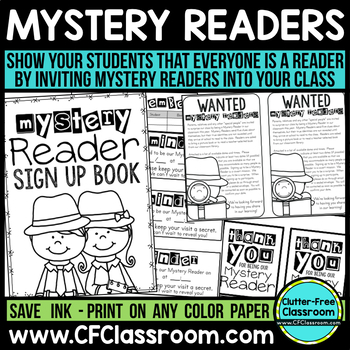 Mystery reader kit letter clue book and more