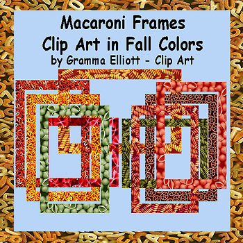 Macaroni Frames Freebie in Fall Colors
