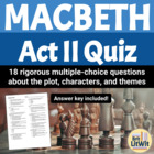 Macbeth Act II Quiz