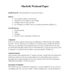 "Macbeth IB ""Weekend Paper"" Assignment"