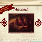 Macbeth~ NEW navigation index and graphic organizers!