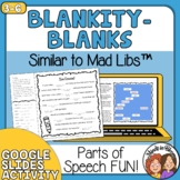 Mad Lib Type Activities - 20 Pages of Parts of Speech Fun!