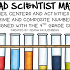 Mad Scientist Math {Prime and Composite Number Activities