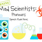 Mad Scientist Pronouns: Speech Therapy Activity