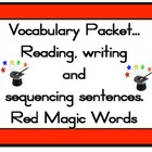 Magic 100 words RED set Packet Flashcards, centre activiti