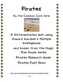 Magic Tree House Pirates- Differentiated Instruction Printables