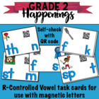 Magnetic Letter R-Controlled Vowels Task Cards