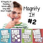 Magnify It #2! Center Games for Long and Short Vowel Words