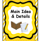 Main Idea & Details Comprehension Activities