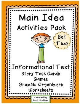Main Idea, Details and Summarizing - Nonfiction Story Task Cards and Games