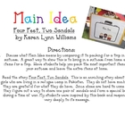 Main Idea-Four Feet, Two Sandals, by Karen Lynn Williams