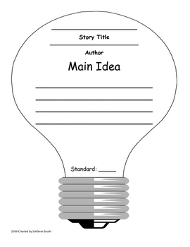 Main Idea Light Bulb