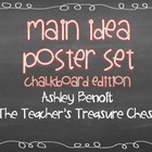 Main Idea Posters Chalkboard Edition