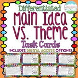 Main Idea Vs. Theme Task Cards { Difference between Main I