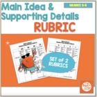 Main Idea and Supporting Details Rubric - Marzano Compatible
