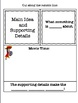 Main Idea and Supporting Details PowerPoint Lesson AND Int